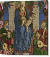 The Virgin And Child Enthroned Canvas Print