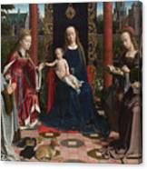 The Virgin And Child With Saints And Donor Canvas Print