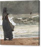 The Watcher, Tynemouth Canvas Print