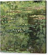 The Water-lilies Pond  Canvas Print