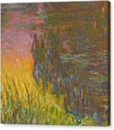 The Water Lilies, Setting Sun Canvas Print