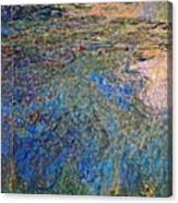 The Water Lily Pond 1914 1917 Canvas Print