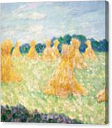 The Young Ladies Of Giverny, Sun Effect Canvas Print