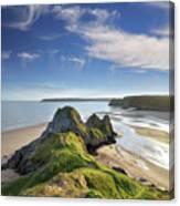 Three Cliffs Bay 5 Canvas Print