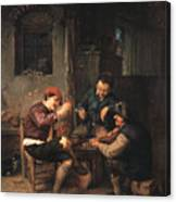 Three Peasants At An Inn Canvas Print