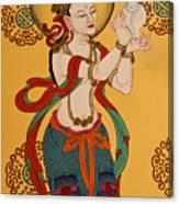 Tibetan Buddhist Mural Canvas Print