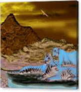 Tigers On A Ledge Canvas Print