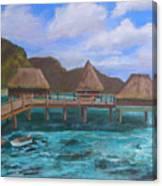 Tiki Hut Vacation Canvas Print