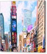 Times Square Canvas Print