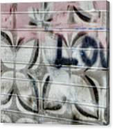 Tiny Pink Butterfly Graffiti Canvas Print