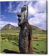 Tongariki Moai On Easter Island Canvas Print