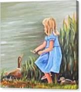 Tori And Her Ducks Canvas Print