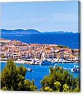 Town Of Primosten Panoramic View Canvas Print