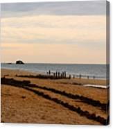 Tracks Along The Bay Canvas Print
