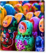 Family Of Mother Russia Matryoshka Dolls Oil Painting Photograph Canvas Print