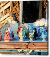 traditional tunis ceramics, Djerba, 07 Nov 2014 Canvas Print
