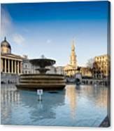 Trafalgar Square National Gallery Canvas Print