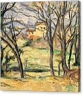 Trees And Houses Near The Jas De Bouffan Canvas Print