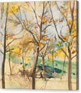Trees In The Bois De Boulogne Canvas Print