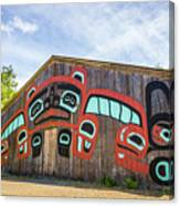 Tribal Totem Pole In Ketchikan Alaska Canvas Print