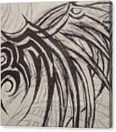 Tribal Wing Sketch Canvas Print
