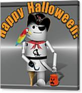 Trick Or Treat Time For Robo-x9 Canvas Print