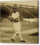 Tris Speaker With Boston Red Sox 1912 Canvas Print
