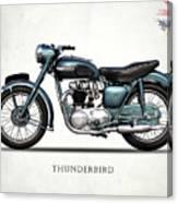 Triumph Thunderbird 1955 Canvas Print