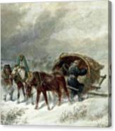 Troika In A Blizzard Canvas Print