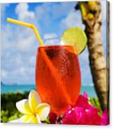 Tropical Cocktail Canvas Print