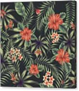 Tropical Leaf Pattern 5 Canvas Print