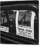 Truck With Right Wing Decal And Helldorado Days Poster Tombstone Arizona 1970 Canvas Print