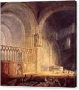 Turner Joseph Mallord William Transept Of Ewenny Prijory Glamorganshire Joseph Mallord William Turner Canvas Print