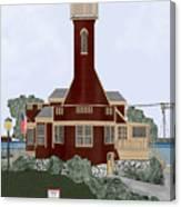 Turtle Rock Lighthouse Canvas Print