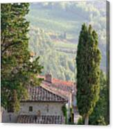 Tuscan Farmhouse At Villa Vignamaggio Canvas Print
