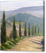 Tuscany Road Canvas Print
