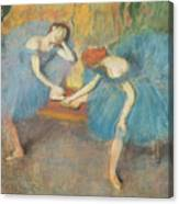 Two Dancers At Rest Canvas Print