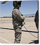 Uh-60 Black Hawk Crew Chief Canvas Print