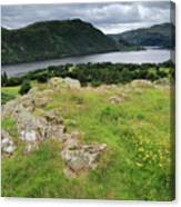 Ullswater Lake From Gowbarrow Fell, Lake District Canvas Print