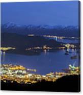 Ulsteinvik By Night Canvas Print