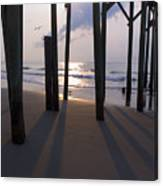 Under Pier Canvas Print