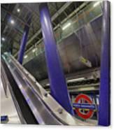 Underground Escalator Canvas Print