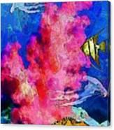 Underwater. Coral Reef. Canvas Print