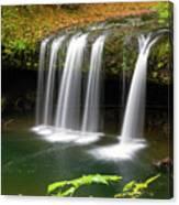 Upper Butte Creek Falls In Autumn Canvas Print