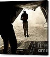 U.s. Air Force Pararescuemen Jump Canvas Print
