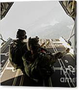 U.s. Army Green Berets Wait To Jump Canvas Print