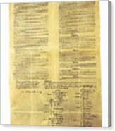 U.s Constitution Canvas Print