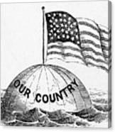 U.s. Flag, 19th Century Canvas Print