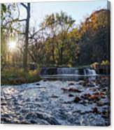 Valley Creek Waterfall - Valley Forge Pa Canvas Print