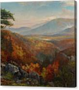 Valley Of The Catawissa In Autumn Canvas Print